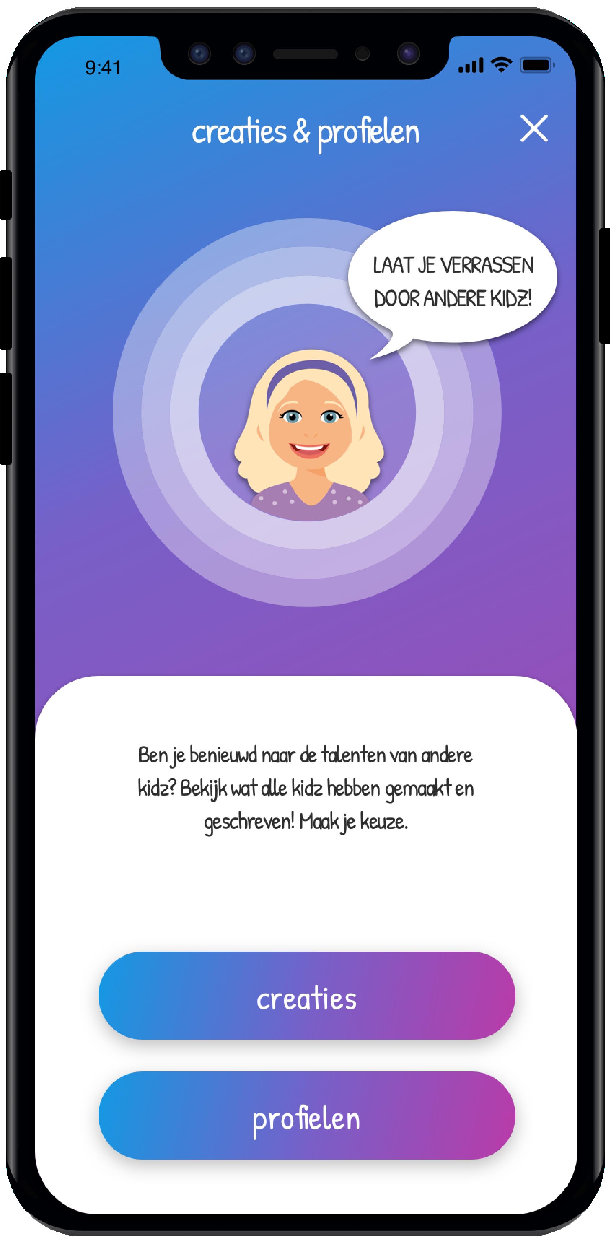 creaties en profielen innerkidz app